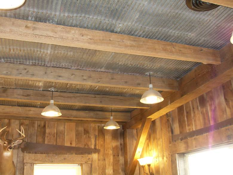 Well Known Photo 8137 Reclaimed Metal Used For Ceiling Tu86