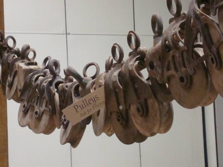 Photo 9235 Wood And Metal Barn Pulleys On Rope Multiple Diffe Styles Of For