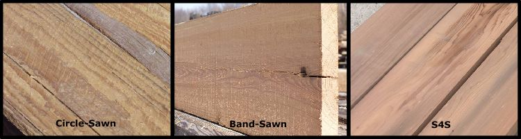 What Are The Differences Between Circle Sawn Band Sawn