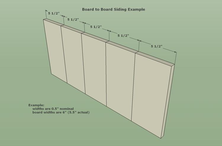 Board To Board Siding Calculator